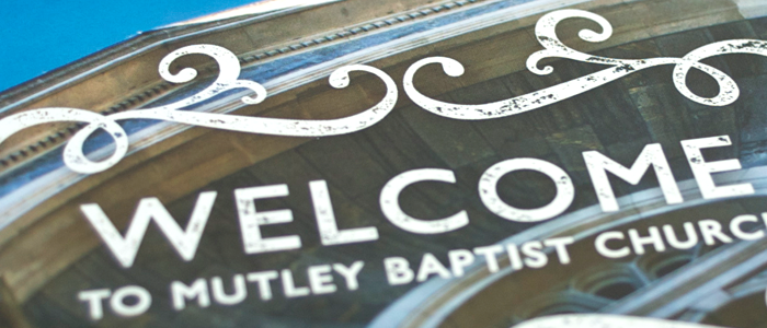 Stamp example - Mutley Baptist Welcome Card