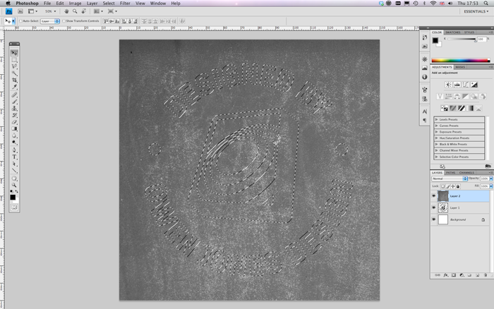 create grunge  rubber stamp text effect  photoshop