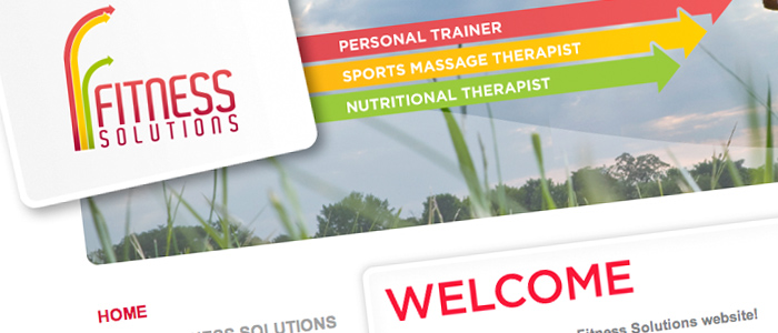 Fitness Solutions website header