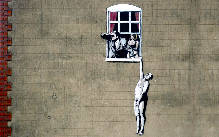 urban art stencil wall - photo #24