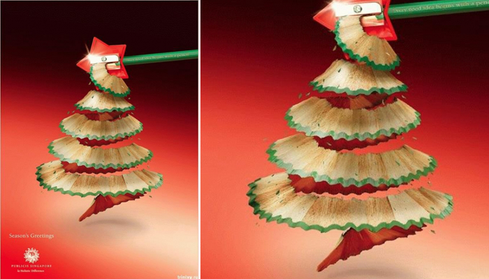 Publicis Singapore Christmas pencil shaving