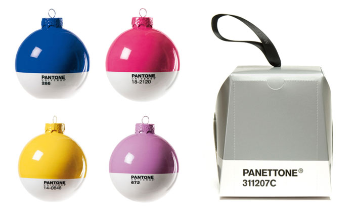 Pantone baubles and Panettone