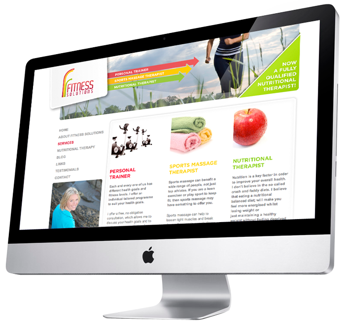 New Fitness Solutions website
