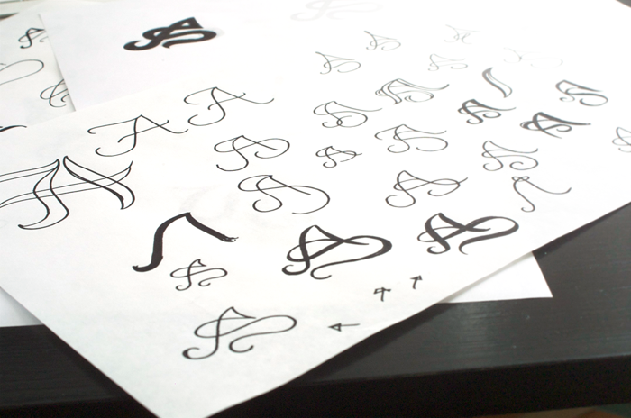 Monogram Tattoo sketches
