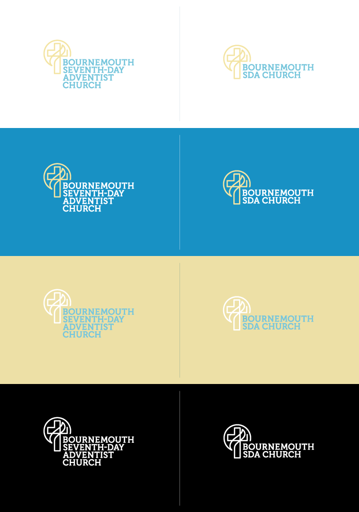 Bournemouth Seventh-Day Adventist Church logo (colour options)