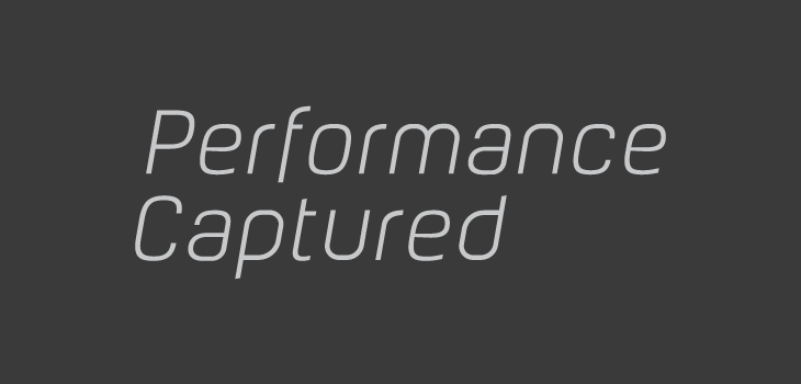 Performance Captured logo type
