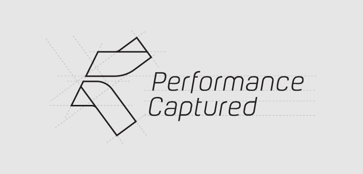Performance Captured logo construction