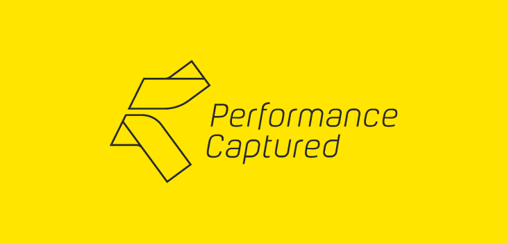 Performance Captured logo yellow