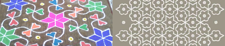 Example kolam patterns