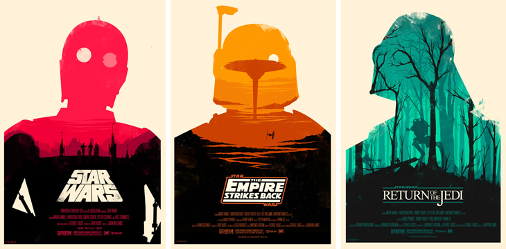 Star Wars posters by Olly Moss