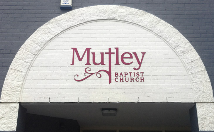 Mutley Baptist Church new sign logo