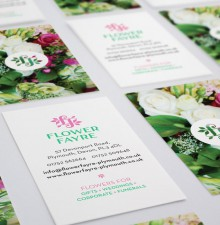 Flower Fayre business cards