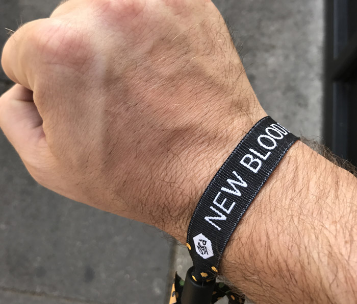 wristband-showing-off