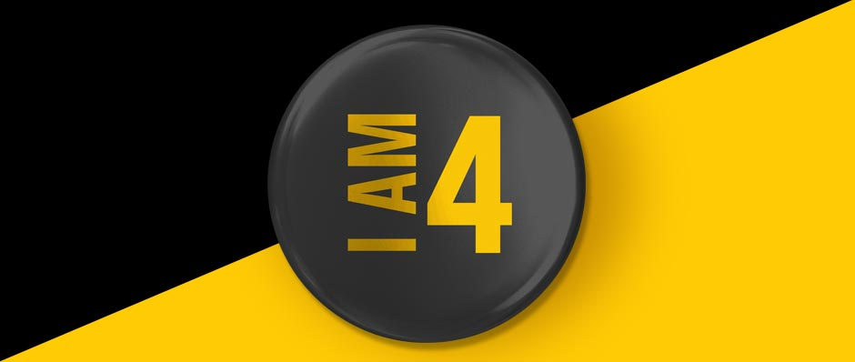 4th birthday badge